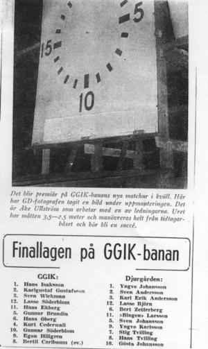 1954 kom matchuret upp som gick att reglera från sekretariatet.