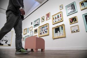 Marie-Louise Ekman har själv varit med och hängt och utformat utställningen på Moderna museet.