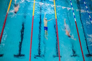 Hela 27 föreningar var representerade under helgens simtävlingar i Falun.