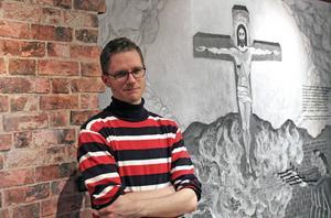 Anders Wesslén, utställningens curator.