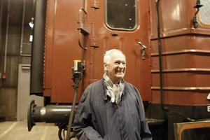 Spårvagnsentuasiasten Dan Erik Göransson hade rest till Gävle för att vara med på årsmötet.