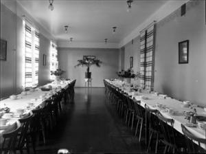 På Skogsfjällets sanatorium fick patienterna tre mål mat om dagen, något som var ovanligt lyxigt för många av dem.