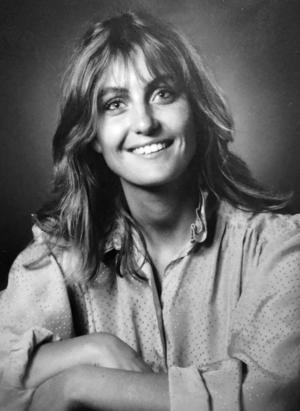 Katarina Vikström, när det begav sig på 80-talet.