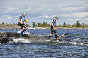 Jonas Boström och Björn Mårtensson slutade trea efter att ha varit ute i tre timmar och sex minuter.