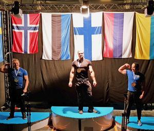 Ronny Dahl högst upp på pallen i Nordiska mästerskapen.