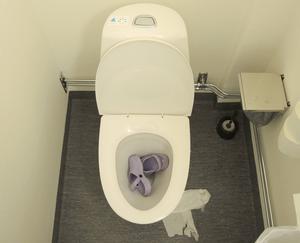 Skolbarn i Borlänge retas för sin religion. En flicka fick till exempel sina skor nerspolade i toaletten för att hon inte bar sjal. (Bilden är arrangerad.)