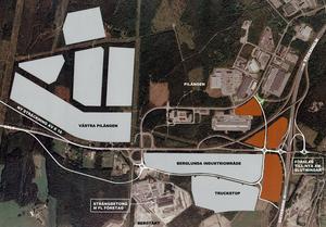 På gång igen. Planerna för Truckstop i Berglunda har väckts till liv igen av kommunledningen. Bilden kommer från förra planeringsomgången 2007, innan projektet las ner.