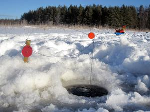 Tre ismetespön och sex angeldon. En tappad gädda var allt i gäddväg på Gavleån denna gång.