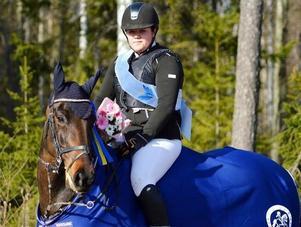 Amanda Bååth efter segern i MsV A.