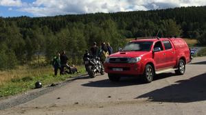 Olycka med motorcykel i Kramfors