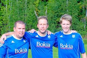 Målskyttar. Kalle Eriksson, Nisse Eriksson och Fredrik Larsson (2) gjorde Norrby SK:s mål. Foto: Martin Eriksson
