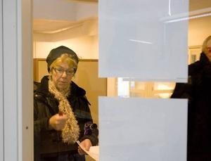 SPANAR IN. Marianne Rolen kollar på bilder från snökaoset