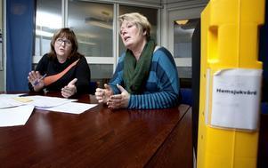 Margareta Karlsson, till vänster, och Cecilia Lantz är båda positiva till reformen för hemsjukvården.