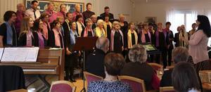 Hälsingtuna- Rogsta kyrkokör under ledning av Maria Eng-Hillbom.