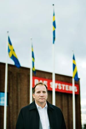 IF Metalls ordförande Stefan Löfven i Örnsköldsvik den 24 oktober 2008.