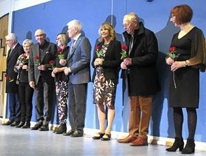SPF-mannekängerna belönades med en ros för sin insats på catwalken.