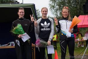 Damvarianten av Notgårdsloppet togs hem av Josefin Lindkvist från Ludvika medan Astrid Hult, Falun, och Hanna Bertilsson, Ludvika, belade övriga medaljplatser.