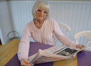 I nästan 50 år har Cathy Erixon i Österro prenumererat på Dagbladet. Nu blir det tomt på morgnarna konstater hon.