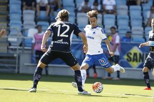 IFK Norrköpings Andreas Blomqvist mot Gefle IF:s Anders Bååth.