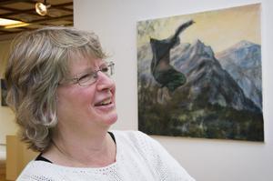 Annikka Arvidsson från en utställning i Örnsköldsvik i oktober.