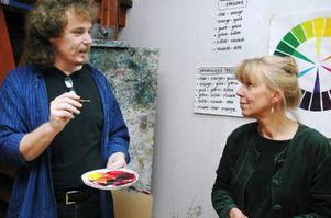 Per Norbin och Maud Hedén diskuterar olika måltekniker.