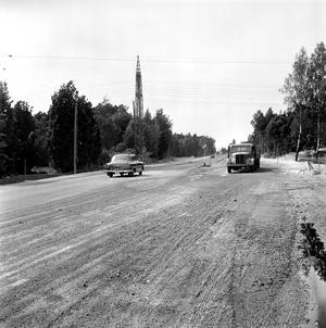 Väg i Västerås på 50-talet.