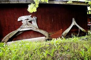 4. Det här mallar som Erik Bergqvist använde sig av när han tillverkade sina träbåtar.