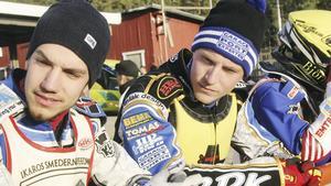 Pontus Aspgren och barndomskamraten Linus Sundström. Foto: Roland Bärtilsson