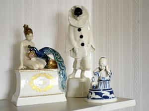 Porslinskonst. Wicken von Post d.ä. var verksam i Rörstrands porslinsfabrik 1915–1921 och skapade bland annat dessa figurer.