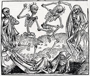 Dödsdansen symboliserar alla människors dödlighet, i döden är vi jämlikar.