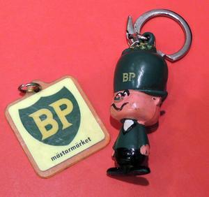 Nyckeringar från BP är i dag eftertraktade samlarobjekt.