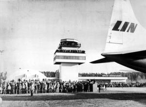 Från invigningen av Rörbergs flygplats.