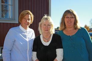 Monica Setterlund, enhetschef på älvudden, vård- och omsorgschef Aina Gustavsson och Medicinskt ansvarig sjuksköterska Ann-Louise Custersson höll presskonferens under torsdagen för att berätta mer om övertagandet av hemsjukvården från Landstinget.
