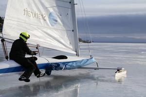 Orsasjön är enda stället i Europa där tävlingen kan genomföras just nu. Bilden är från EM i isjakt som gick i Hudiksvall 2016