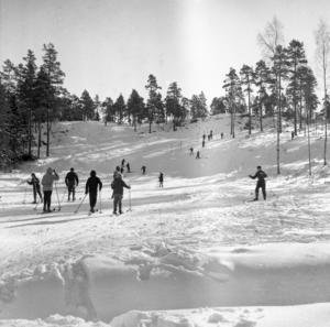 Mellan tre och fyra hundra ungdomar besökte Stormorshäll en onsdag på sportlovet 1958.
