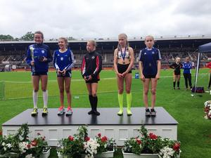 Linnea Thor hade kämpade till sig en fjärdeplats på 2000 meter.