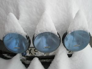 Saab i vinterskrud.
