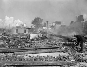 Ruinerna efter rivningen av Storyville.