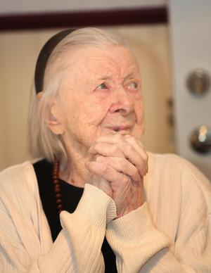 Maja Fjellner i Vemdalen fyllde 105 år och är äldst i Härjedalen