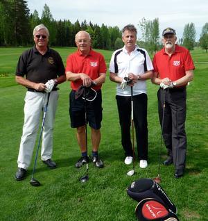 Sven-Folke Wilhelmsson, Uno Olsson, Kjell Fernström och Tommy Larsson.