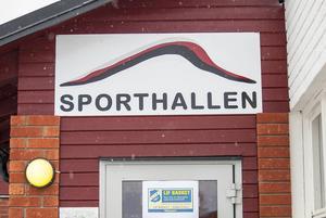 Sporthallen i Sveg används också som idrottssal av Södra skolans elever.