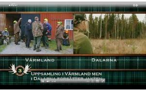 Så här såg det ut på tv4:s hemsida på måndagseftermiddagen. Foto: Tv4.se