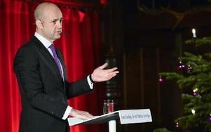Stadsminister Fredrik Reinfeldt höll jultal på Skansen. Foto: HENRIK MONTGOMERY / TT