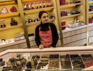 Wittamers underbara chokladaffär i Bryssel.