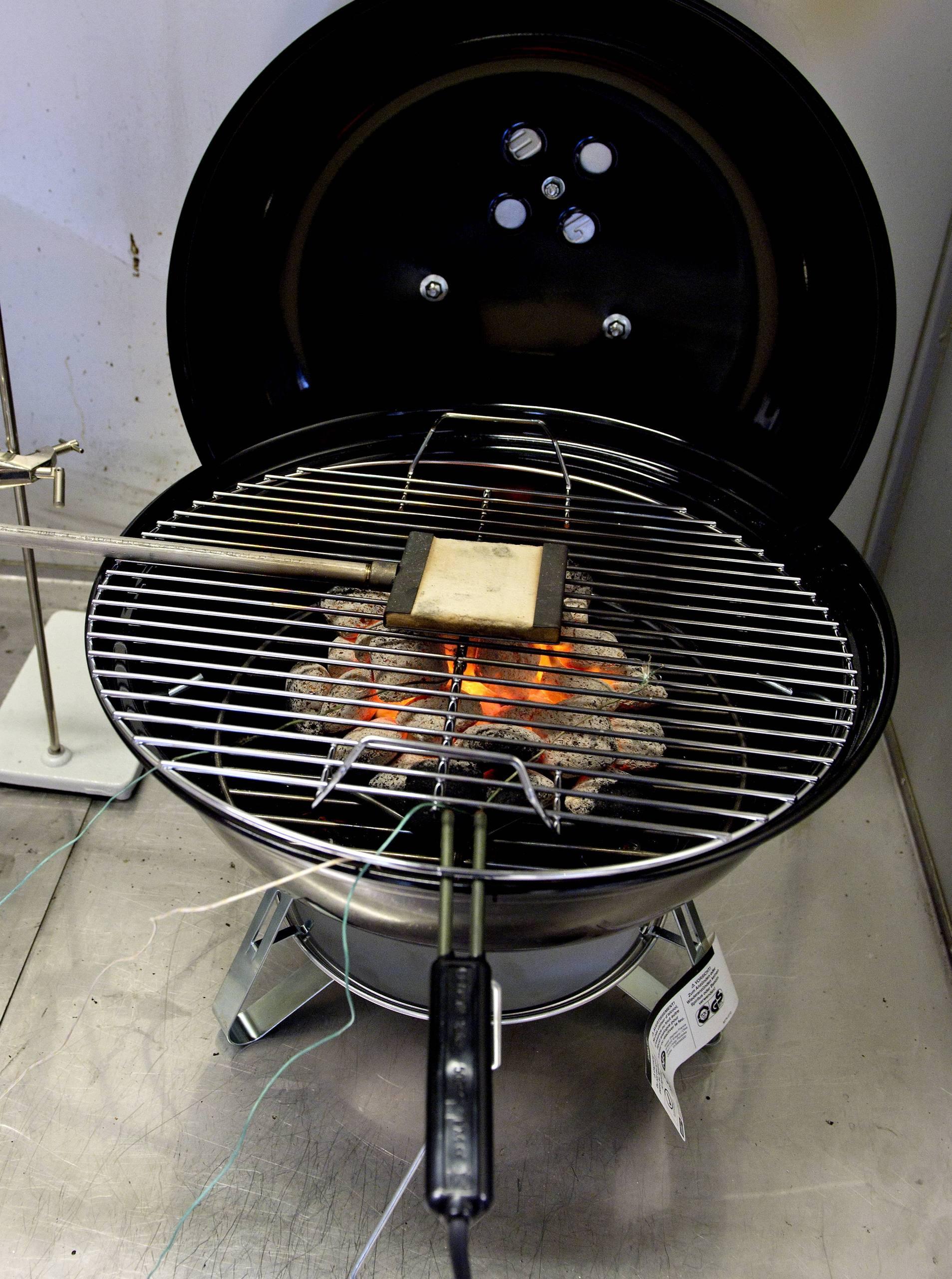 Tio forgiftade vid grillning