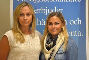 Jessica Palm och Lina Åström är mäklare på Länsförsäkringar i Örnsköldsvik.