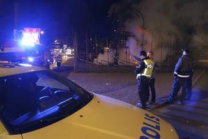 Mannen kunde gripas kort efter att bocken fattat eld.