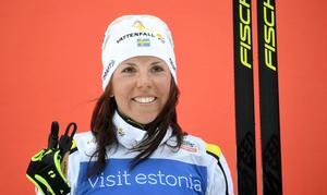 Charlotte Kalla var överlägsen i premiären. Foto: Martti Kainulainen (TT).