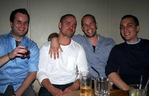 Blue Moon Bar. Mattias, Martin, Adde och Petta