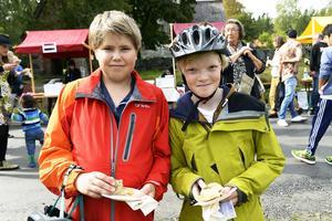 Ville Dahl och Axel Wahlund åt kenyansk mat .
